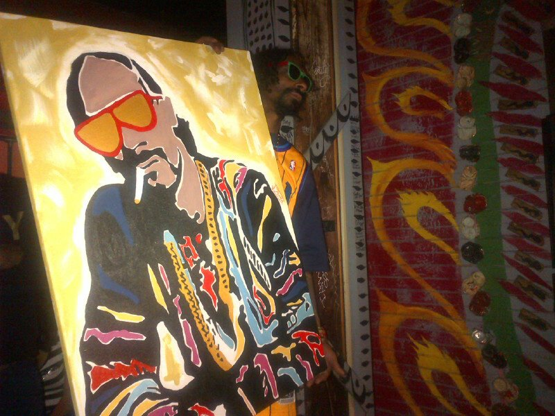 Snoop Dogg painting by JZumo.